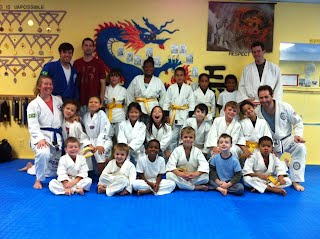 Kid's Jiu-Jitsu and Self-Defense Martial Arts class, kid's learning to be anti-bullies