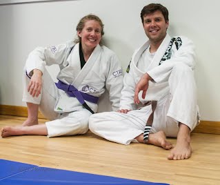Women's Self-Defense Instructors Tori Garten and Greg Bartman