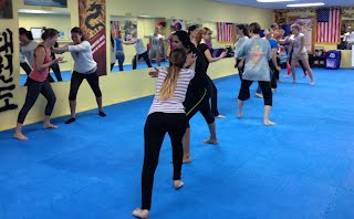 Push Base Women's Self-Defense Workshop class in Silver Spring MD at Bartman MMA and Self-defense, a Relson Gracie Jiu-jitsu Academy